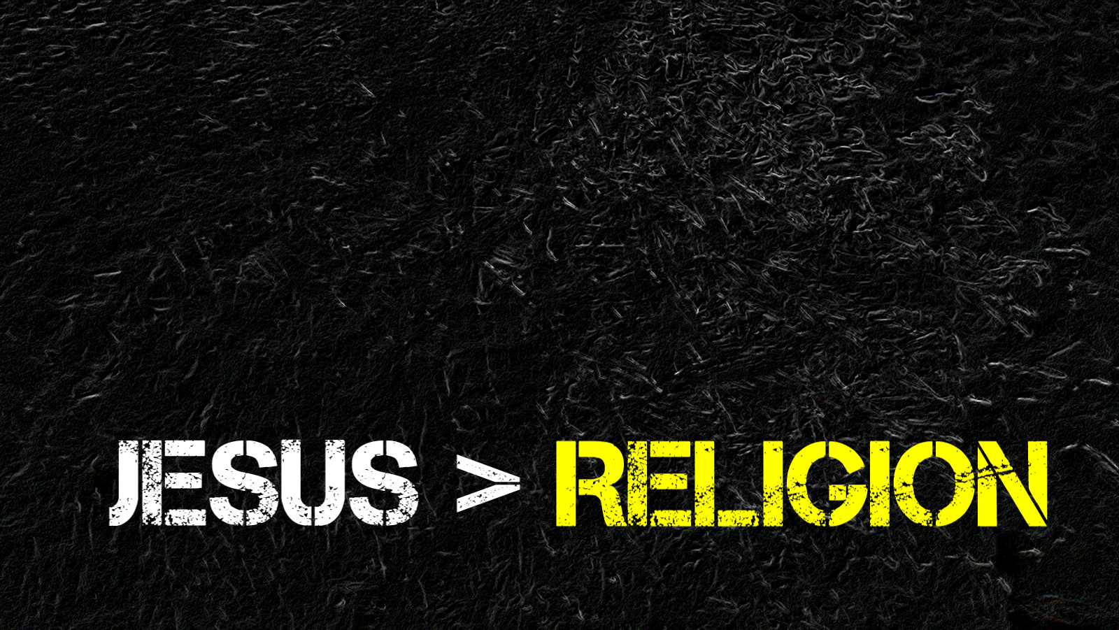 Detesto la religión, pero Amo a Jesús.